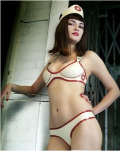 nurse latex bra edenwear